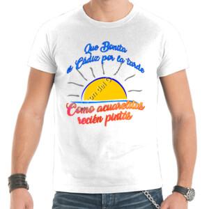 Camiseta manga corta Diseño Que bonita es Cádiz por la tarde - Hombre