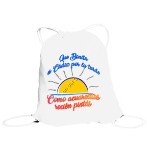 Bolsa de saco Diseño Que bonita es Cádiz por la tarde