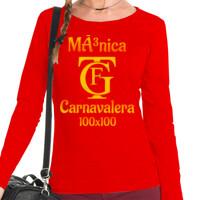 Camiseta manga larga Carnavalera 100x100 PERSONALIZABLE (Mujer)