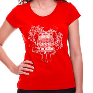 Camiseta Corazón Yo me enamoré de ti para Mujer