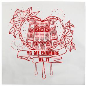 Cojín con diseño Corazón Yo me enamoré de ti Burdeos