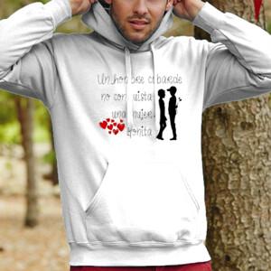 Sudadera con capucha diseño Hombre cobarde - hombre