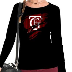 Camiseta negra de manga larga con el Logo del Falla Saliendo del pecho