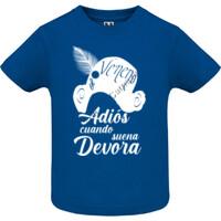 Camiseta Adiós cuando suena Devora en Blanca - Bebe