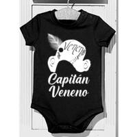 Body Frase Capitán Veneno en Blanco - Bebé