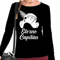Camiseta Eterno Capitán en Blanco Manga Larga - Mujer