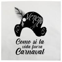 Cojín Como si la vida fuera carnaval