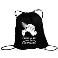 Bolsa Como si la vida fuera carnaval en Blanco