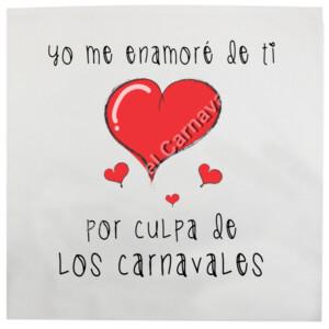 Cojín Yo me enamore de ti por culpa de los carnavales
