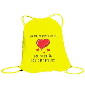 Bolsa de saco Yo me enamore de ti por culpa de los carnavales