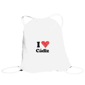 Bolsa saco con diseño I love Cádiz