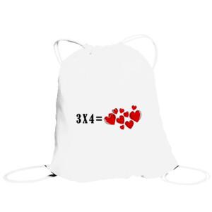 Bolsa saco con diseño 3x4 iual a corazones