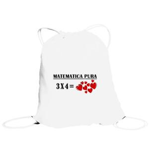Bolsa saco con diseño Matematica pura 3x4