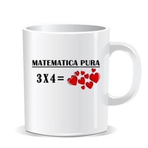 Taza con diseño Matemática pura 3x4
