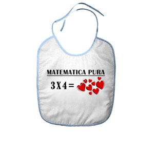 Babero Matemática pura 3x4