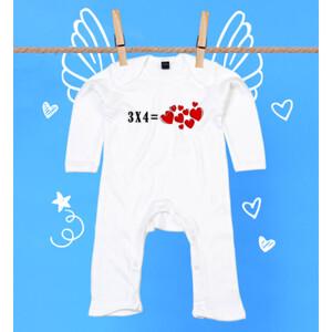 Pijama diseño 3X4 igual a corazones