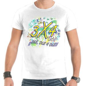 Camiseta manga corta con diseño El 3x4 llego ole, ole, ole para hombre
