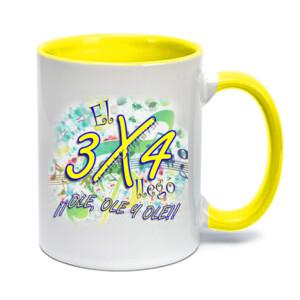 Taza con diseño El 3x4 llego ole, ole, ole con interior y mango de color