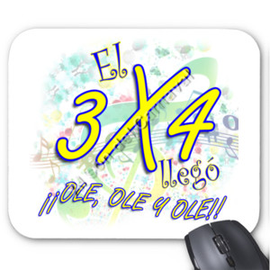 Alfombrilla diseño El 3x4 llego ole, ole, ole