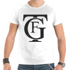 Camiseta con logo del gran teatro Falla con letras de color negro de hombre