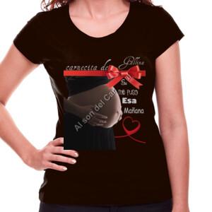 Camiseta de manga corta diseño carnecita de gallina
