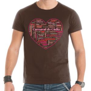 Corazón de Carnaval de Cádiz - Camiseta de hombre