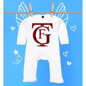 Pijama de bebe con logo de Falla burdeos