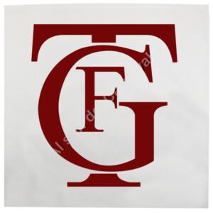 Cojín con logo de Falla burdeos