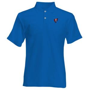 Polo azul de hombre con el Logo GTF Saliendo del corazón