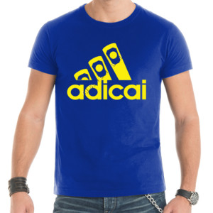 Camiseta de manga corta AdiCai letras en Amarillo