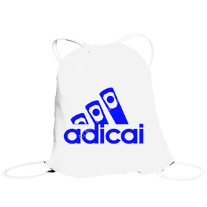 Bolsa de saco con logo Adicai color Azul