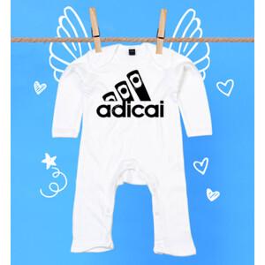 Pijama de bebe con logo Adicai color negro