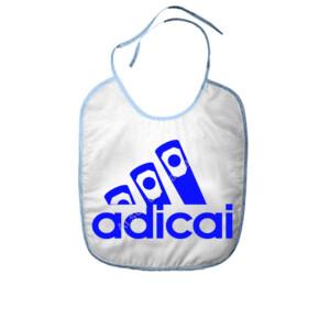 Babero con logo Adicai color Azul