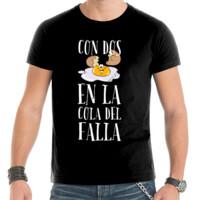 Con dos huevos en la cola del Falla - Camiseta mangas cortas hombre