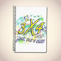 Libreta diseño 'El 3x4 llego'