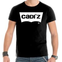 Camiseta negra Logo Cadiz Blanco - Hombre