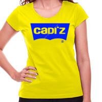 Camiseta amarilla Logo Cadiz Azul - Mujer
