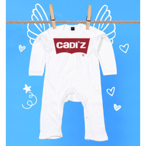 Pijama blanco logo Cadiz rojo