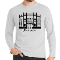 Camiseta Manga Larga Diseño Teatro Falla Creo en ti negro - Hombre