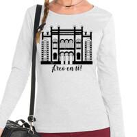 Camiseta Manga Larga Diseño Teatro Falla Creo en ti negro - Mujer
