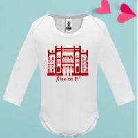 Body manga larga Bebé Diseño Teatro Falla Creo en ti rojo