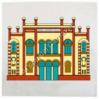 Cojín Diseño Teatro Falla a color