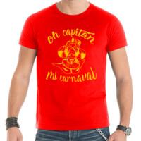 Camiseta Diseño Oh capitán amarillo - Hombre