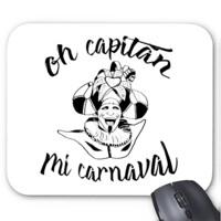 Alfombrilla de ratón Diseño Oh capitán negro
