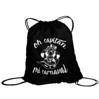 Bolsa de saco Diseño Oh capitán Blanco