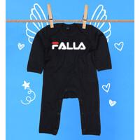 Pijama Bebé Diseño Logo Falla blanco y rojo